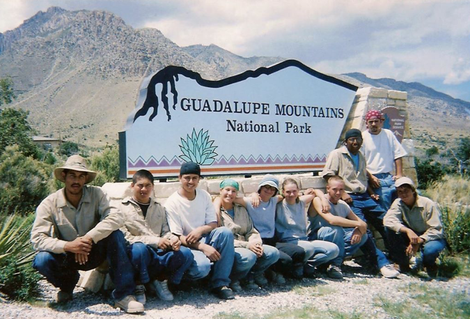 Youth Corps of Southern Arizona Crew at Guadalupe Mountains National Park